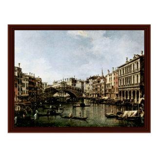 Il Canale Grande A Rialto By Canaletto Postcard