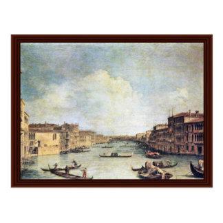 Il Canale Grande By Canaletto Postcard