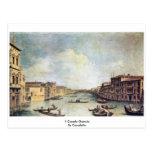 IL Canale grande por Canaletto Tarjeta Postal