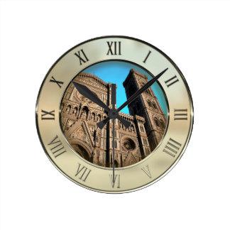 Il Duomo di Firenze Round Clock