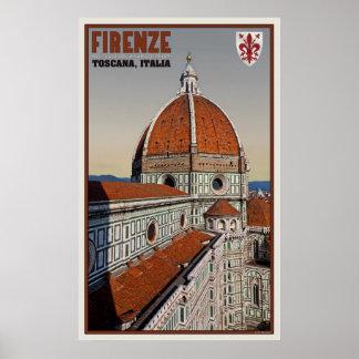 il Duomo from Giotto's Campanile Poster