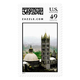 Il Duomo, Siena, Tuscany, italy | Watercolor Stamp