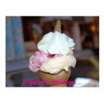 Il gelato italiano... postcard