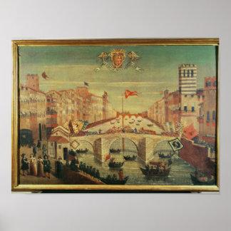 Il Gioco del Ponte dei Pisani Poster