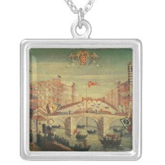 Il Gioco del Ponte dei Pisani Silver Plated Necklace