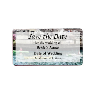 IL - Kayaking on the Chicago River Save the Date Label