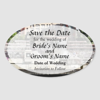 IL - Kayaking on the Chicago River Save the Date Oval Sticker