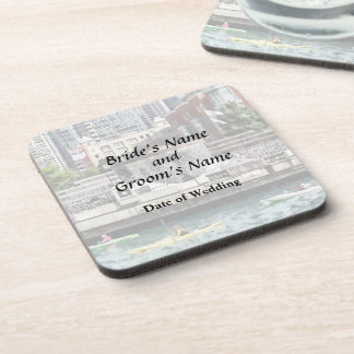 IL - Kayaking on the Chicago River Wedding Product Beverage Coaster
