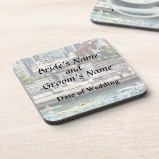 IL - Kayaking on the Chicago River Wedding Product Drink Coaster