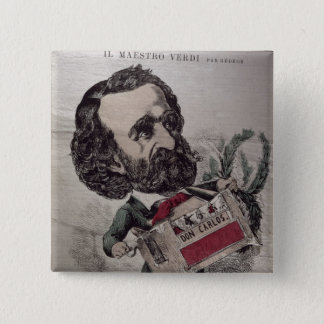 Il Maestro', caricature of the Italian Pinback Button