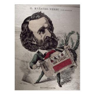 Il Maestro', caricature of the Italian Postcard
