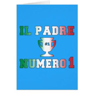 Il Padre Numero 1 #1 Dad in Italian Father's Day Card