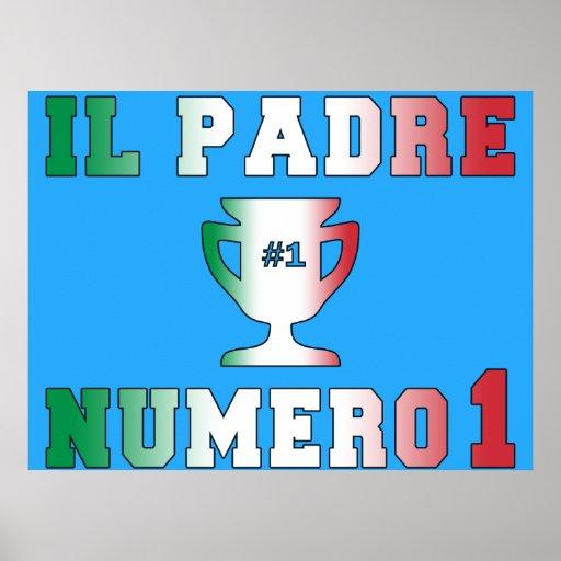Il Padre Numero 1 #1 Dad in Italian Father's Day Posters