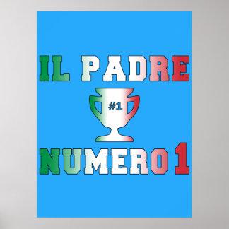 Il Padre Numero 1 #1 Dad in Italian Father's Day Poster
