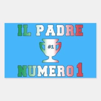 Il Padre Numero 1 #1 Dad in Italian Father's Day Rectangular Sticker