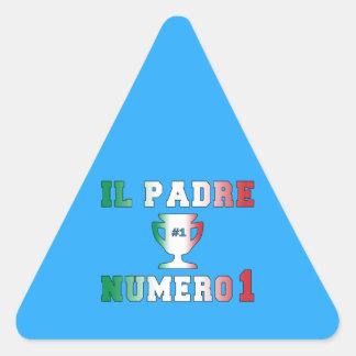 Il Padre Numero 1 #1 Dad in Italian Father's Day Triangle Sticker
