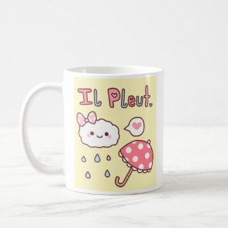 """""""Il Pleut"""" Cup Mugs"""