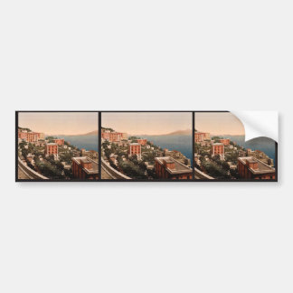 Il Posilippo and waterfront, Naples, Italy vintage Bumper Stickers