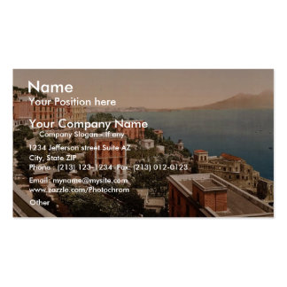 Il Posilippo and waterfront, Naples, Italy vintage Double-Sided Standard Business Cards (Pack Of 100)