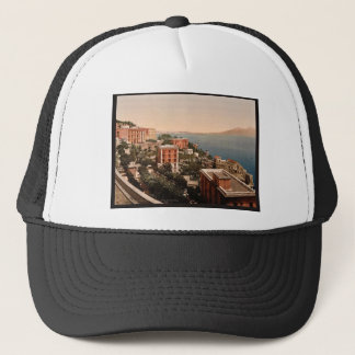 Il Posilippo and waterfront, Naples, Italy vintage Trucker Hat