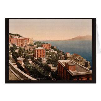 IL Posilippo y vintage de la costa, Nápoles, Itali Felicitacion