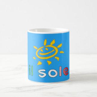 Il Sole The Sun in Italian Summer Vacation Coffee Mug