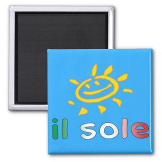 Il Sole The Sun in Italian Summer Vacation Fridge Magnet