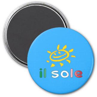 Il Sole The Sun in Italian Summer Vacation Fridge Magnets