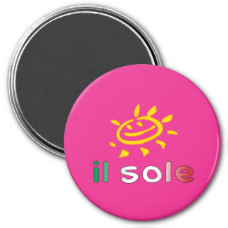 Il Sole The Sun in Italian Summer Vacation Magnets