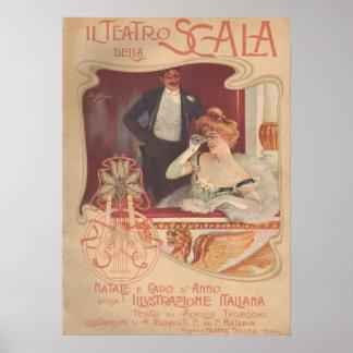 Il Teatro della Scala 1900 Poster