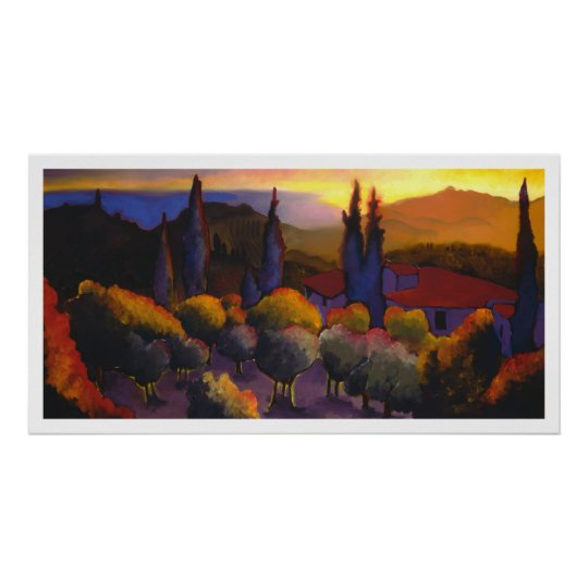 Il tramonto da Casa Cares Poster