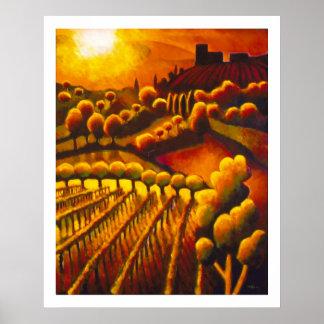 Il tramonto da Casa Memmo Poster