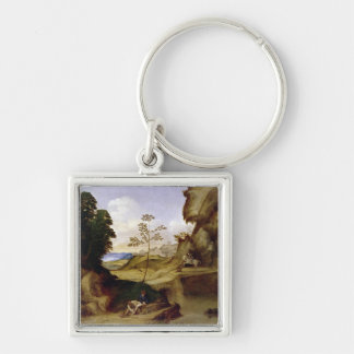Il Tramonto (The Sunset) (oil on canvas) Keychain