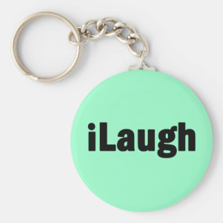 iLaugh Laughter Tshirts and Gifts Keychains