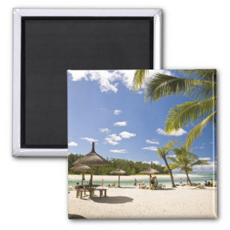 Ile Aux Cerf, most popular day trip for 3 2 Inch Square Magnet