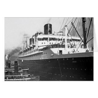 Ile de France de los SS Tarjeta De Felicitación