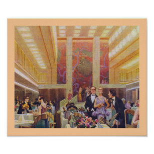 Ile De France Dining Room Poster