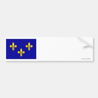 Île-de-France flag Car Bumper Sticker