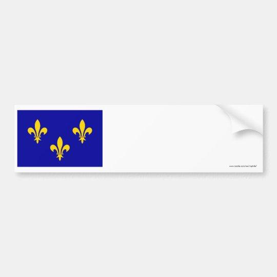 Île-de-France flag Bumper Sticker