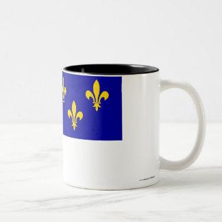 Île-de-France flag Two-Tone Coffee Mug