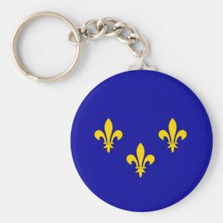 Ile de France region flag Basic Round Button Keychain