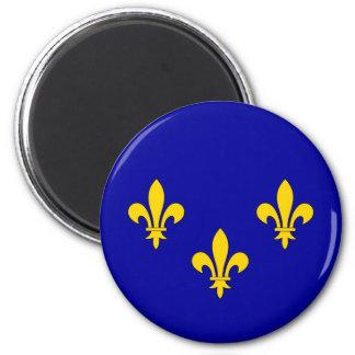 Ile de France region flag 2 Inch Round Magnet