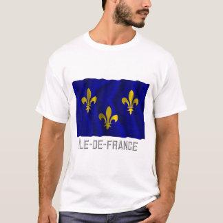 Île-de-France waving flag with name T-Shirt