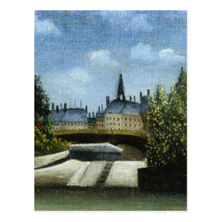 Ile de la Cite by Henri Rousseau Postcard