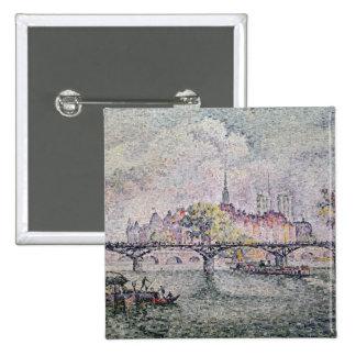 Ile de la Cite, París, 1912 Pin Cuadrada 5 Cm
