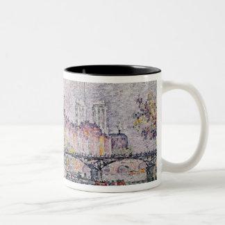 Ile de la Cite, Paris, 1912 Two-Tone Coffee Mug