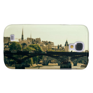 Ile De La Cite, Pont des Arts en París, Francia Funda Para Galaxy S4