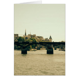 Ile De La Cite, Pont Des Arts in Paris, France Card