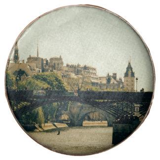 Ile De La Cite, Pont Des Arts in Paris, France Chocolate Covered Oreo