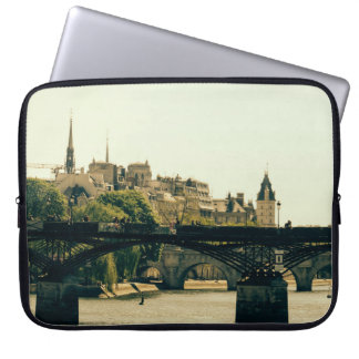 Ile De La Cite, Pont Des Arts in Paris, France Laptop Sleeve